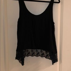 Loose Fitting Lace Tank Top